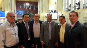 Visita de dirigentes de la Asociación de Pensionados del INPEC