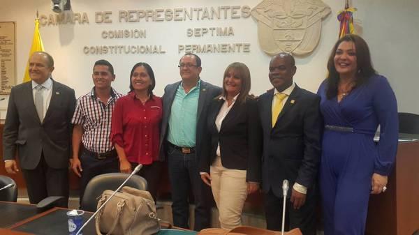 Visita de miembros de la Asociación Colombiana de Enfermería