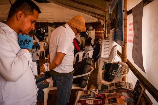 Vigilia por la paz en Buenos aAires - Cauca