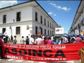 Paro de docentes en el Cauca