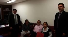 Reunión con directivos del sindicato de trabajadores de Saludcoop y Corporación IPS