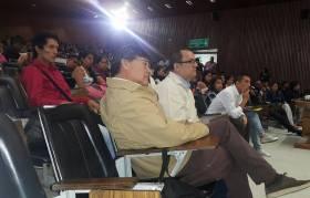 Acompañando el foro estudiantil con candidatos a Rector Unicauca