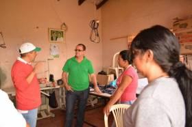 Trabajando en zona rural de Popayán