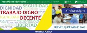 Audiencia pública: Trabajo Digno y Decente en el sector salud