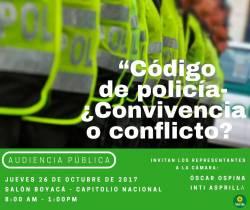 Audiencia Pública - Código Nacional de Policía